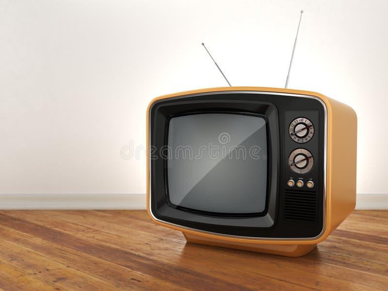 3D rendering old tv. 3D rendering retro TV on white background vector illustration
