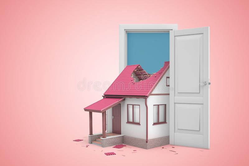 House Rendering With Copyspace Stock Illustration