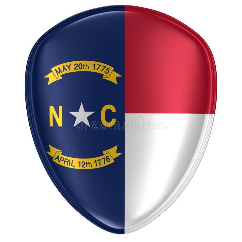 3d rendering Pólnocna Karolina usa stanu flagi ikona royalty ilustracja
