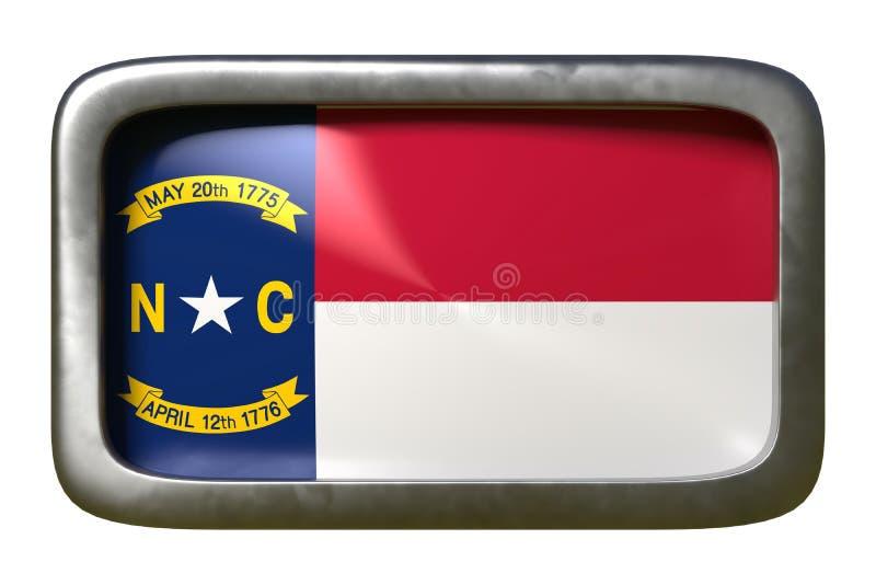 3d rendering P?lnocna Karolina stanu flaga royalty ilustracja