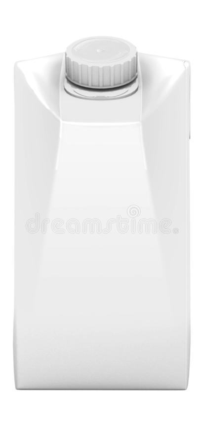 3D RENDERING PACKAGING MILK JUICE ISOLATED ON WHITE BACKGROUND royalty free illustration