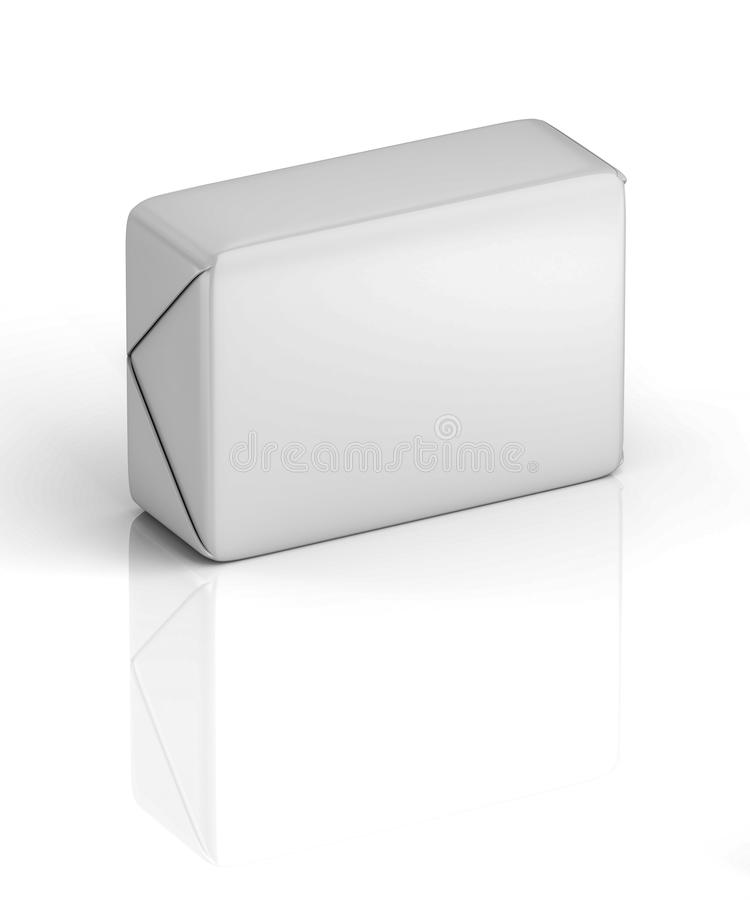 3D rendering, pakuje, sześcian, okrasa, masło obraz royalty free