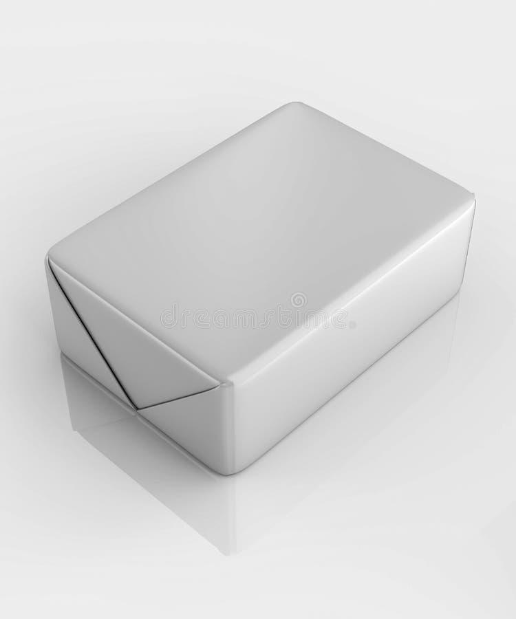 3D rendering, pakuje, sześcian, okrasa, masło obrazy royalty free