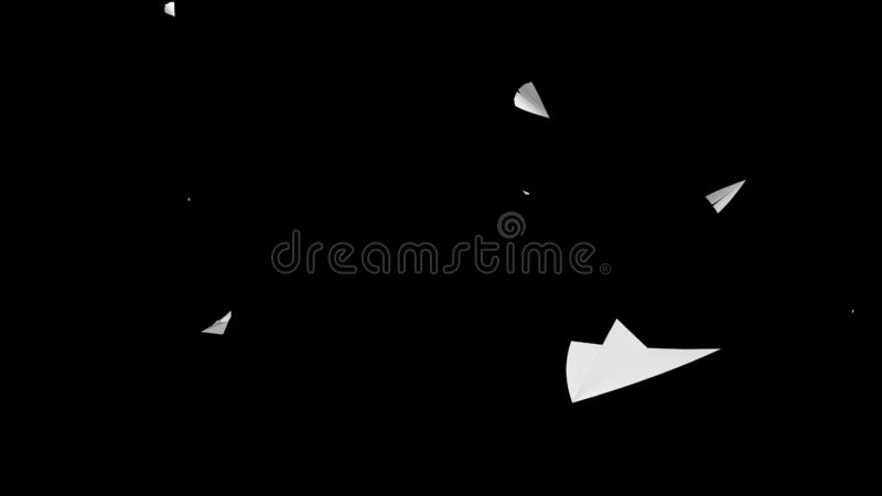 3d rendering of Paper airplane flying on sky background royalty free stock image
