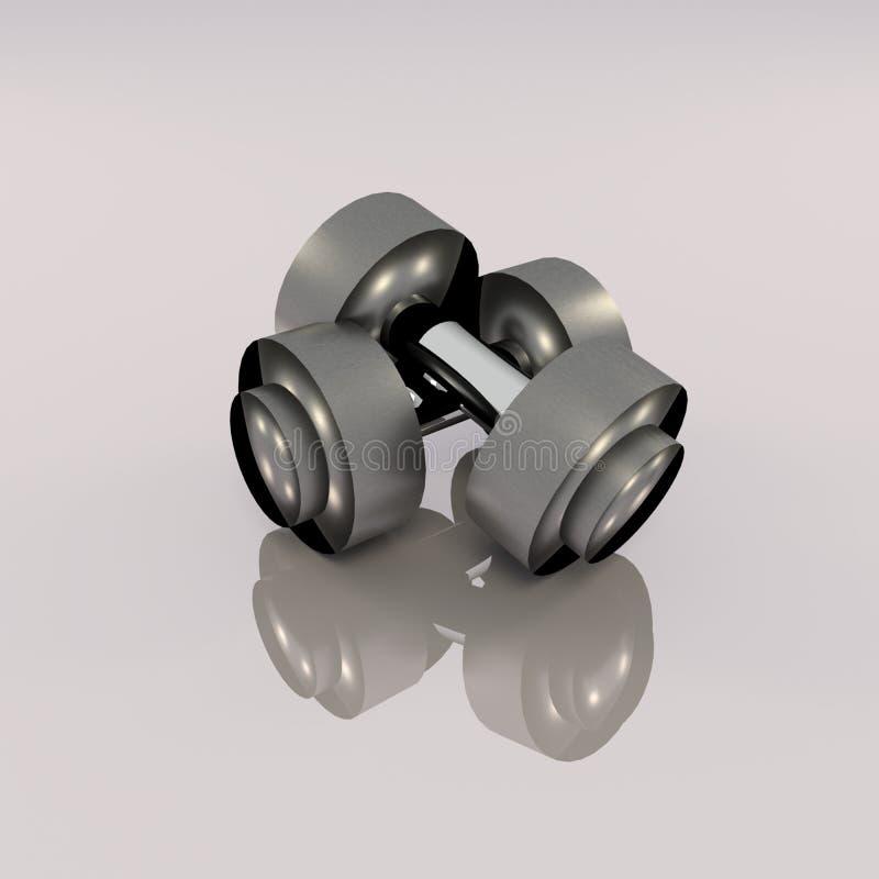 3D rendering para dumbbell ilustracja wektor