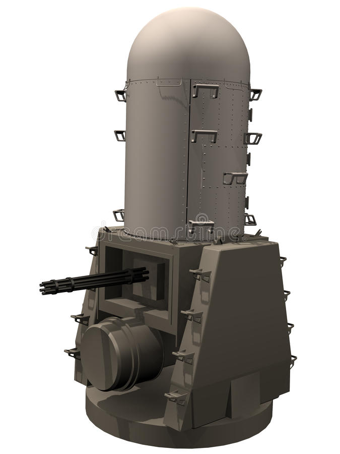 3d Rendering of a Phalanx CIWS royalty free illustration