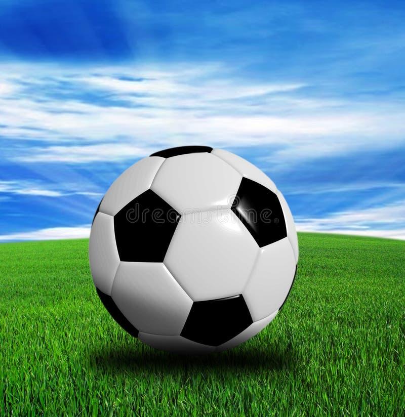 3D rendering, piłki nożnej piłka odizolowywająca na błękitnym tle zdjęcie royalty free