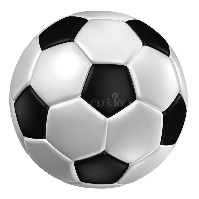 3d rendering piłki nożnej piłka. (Rzemienna tekstura) royalty ilustracja
