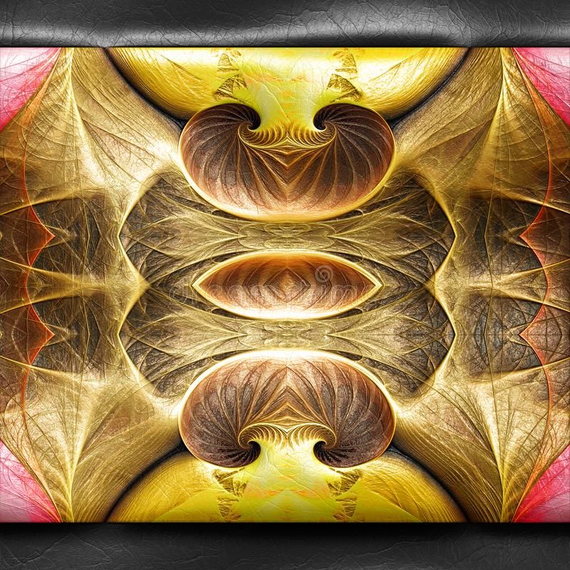 3D rendering of plastic fractal on leather royalty free illustration
