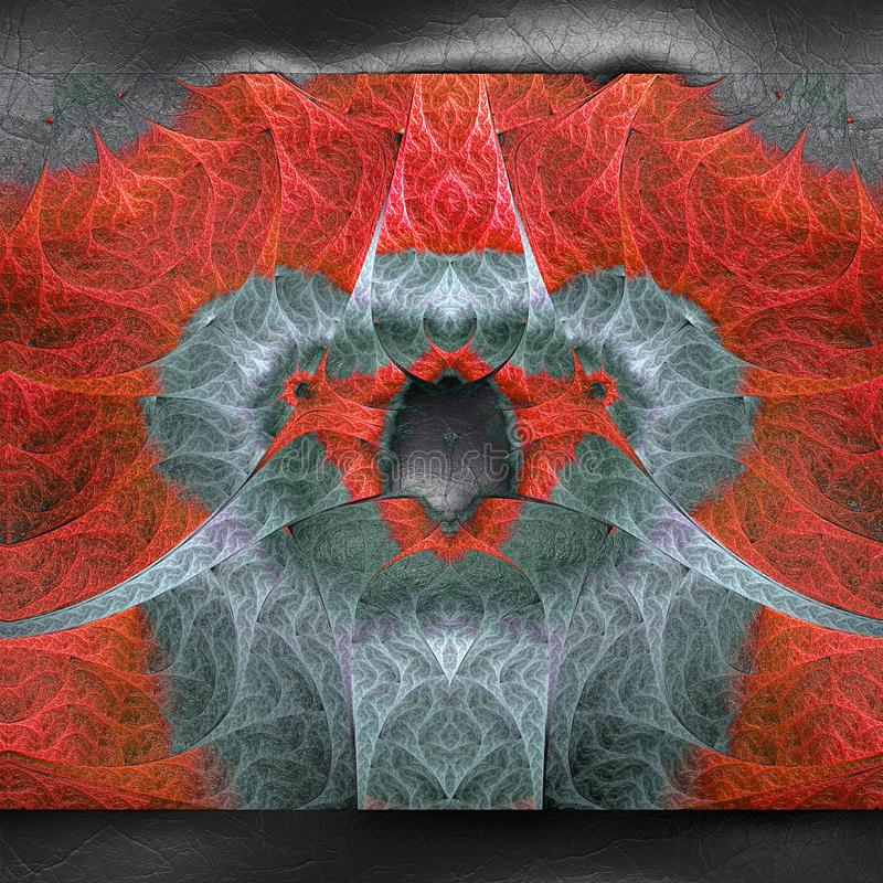 3D rendering plastikowy fractal na sk?rze royalty ilustracja