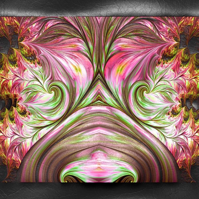 3D rendering plastikowy fractal na sk?rze ilustracji