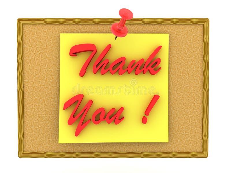 3D rendering poczta ja notatki mówić Dziękuje ciebie przyczepiającego na korek desce ilustracja wektor