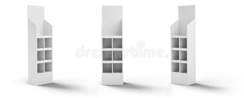 3D rendering, pokaz, stojak, wystawa obraz stock