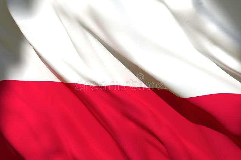 3d rendering of Poland flag. 3d rendering of a Poland national flag waving royalty free illustration