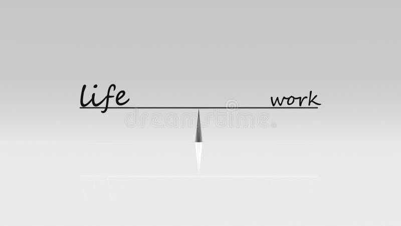 3d rendering pracy życia równowaga, biznesowy pracy życia pojęcie obrazy royalty free