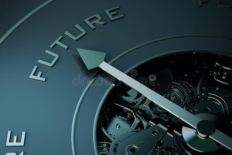 3D rendering przyszłościowy kompas zdjęcia stock