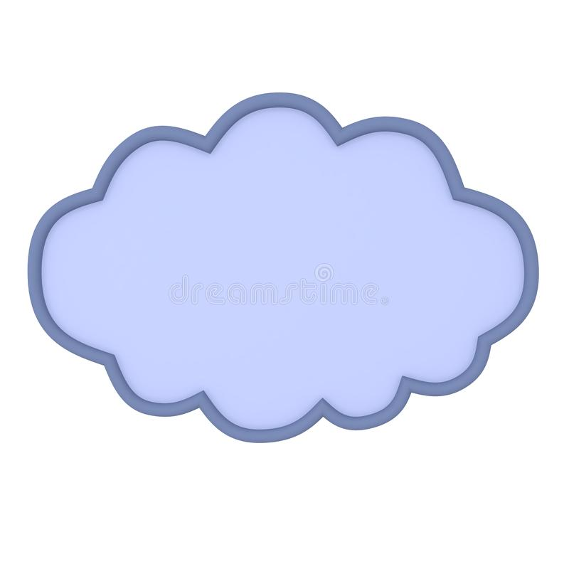 3D Rendering of raincloud. 3D Rendering isolated on white stock illustration