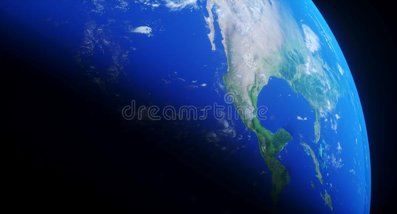 Realistic Planet Earth Closeup stock illustration