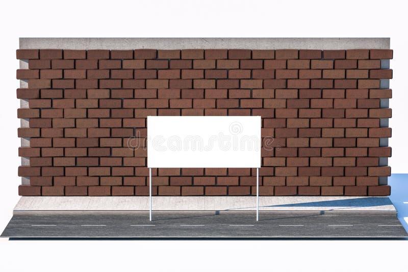 3d rendering, reklamowy billboard na stronie droga fotografia stock