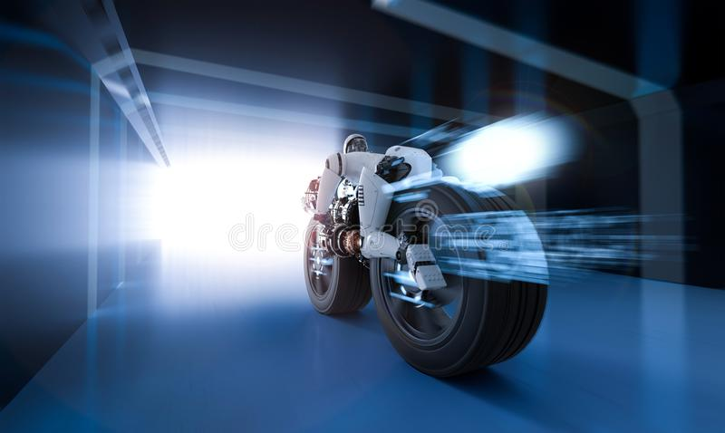 Robot speed move stock illustration