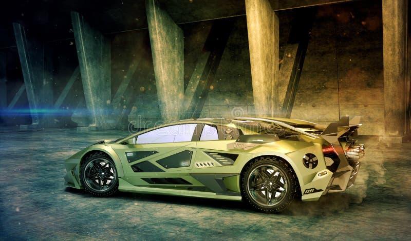 3D rendering - rodzajowy pojęcie samochód ilustracji