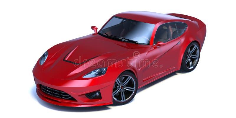 3D rendering - rodzajowy pojęcie samochód ilustracja wektor