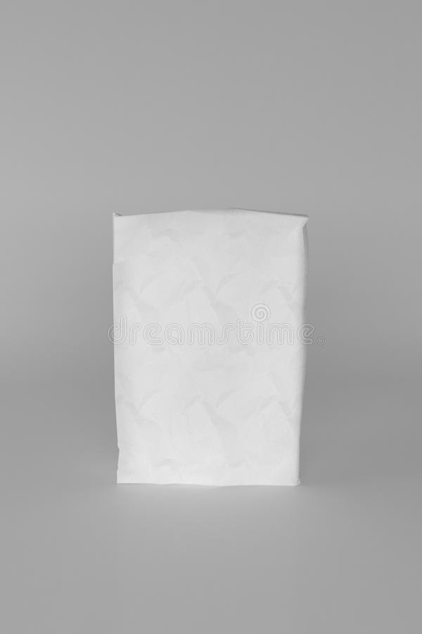 3d rendering of a sack of cement on white background. 3d rendering of a white sack of cement on white background vector illustration