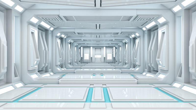 3d rendering Sifi lab stock illustration