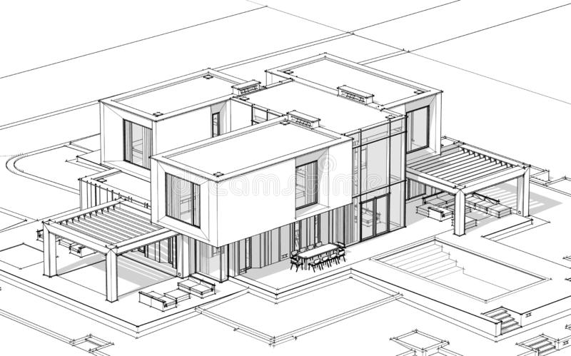 9 384 Modern House Sketch Photos Free Royalty Free Stock Photos From Dreamstime