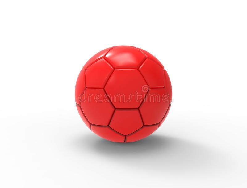 3d rendering of a soccer ball isolated on white studio background royalty free illustration