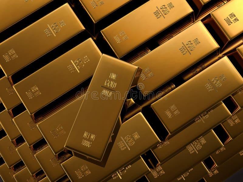 Fine Gold bars vector illustration