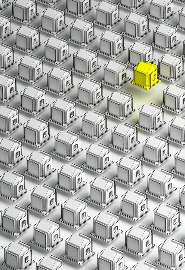 3d rendering stylizowany infographic domu wzór ilustracji