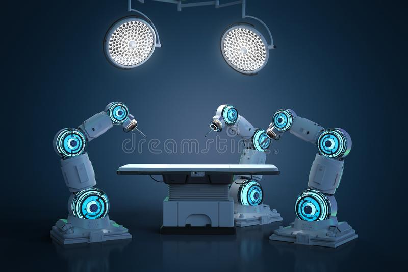 Surgery robotic arm royalty free illustration