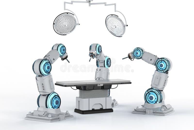 Surgery robotic arm royalty free illustration