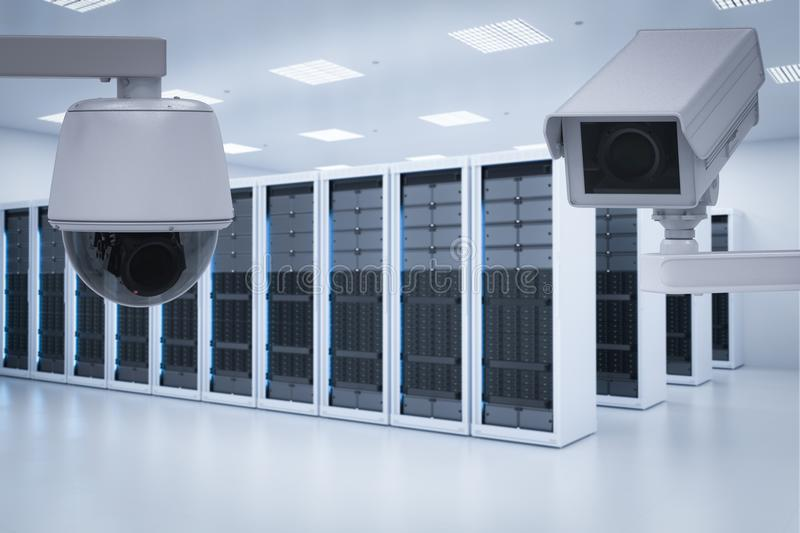 Server room security royalty free stock image