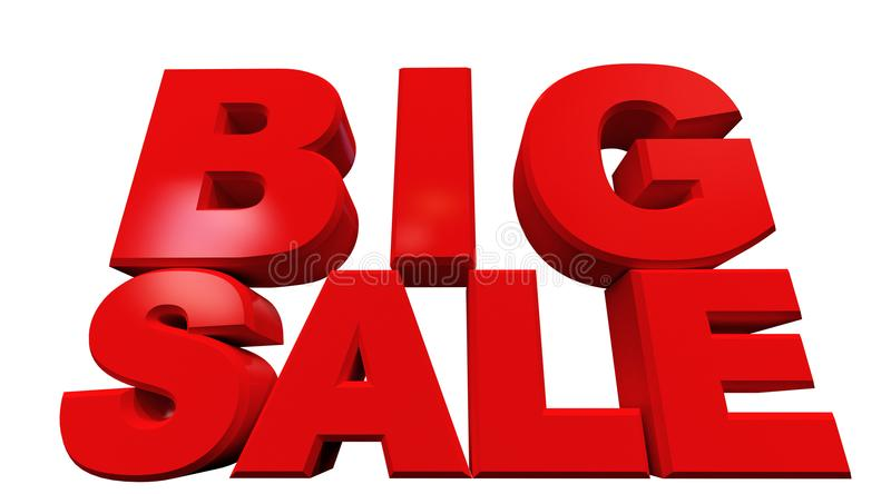3D rendering of text big sale royalty free illustration