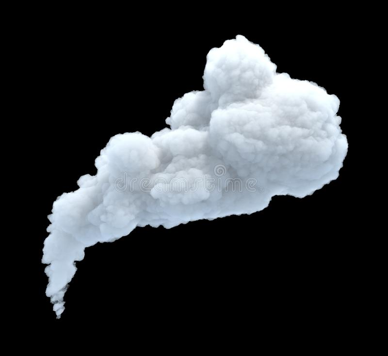 3d rendering of thick smoke cloud on black background royalty free stock photos