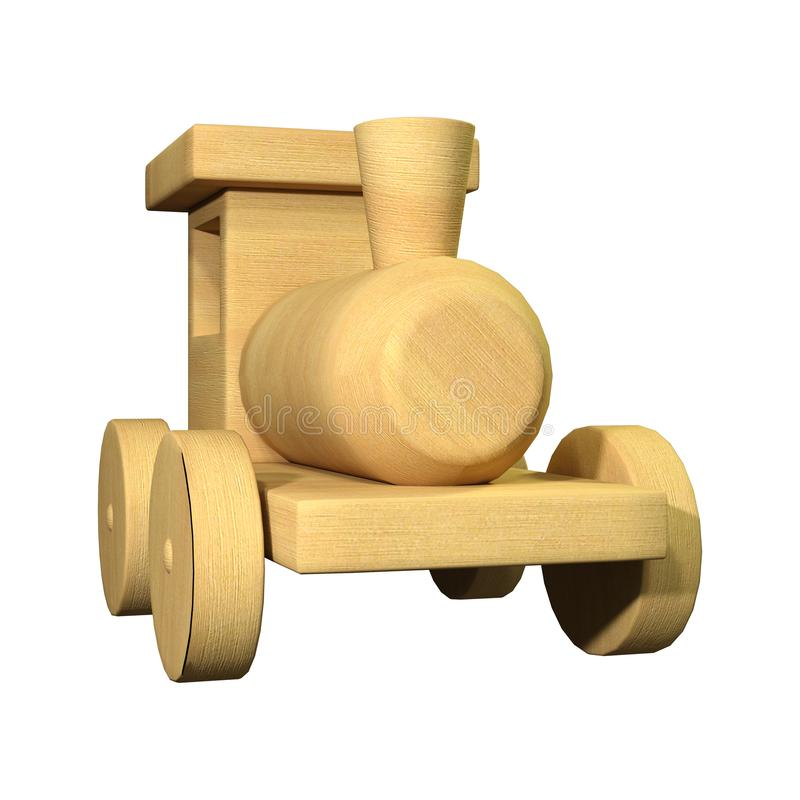 3D Rendering Toy Train on White royalty free illustration