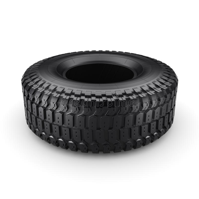 3D rendering truck tire. On a white background vector illustration