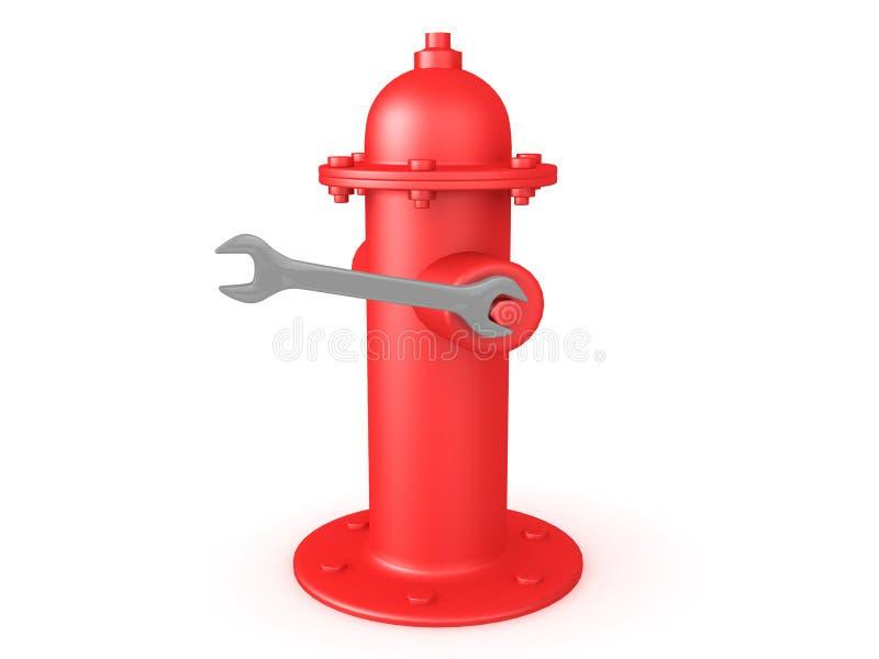 3D rendering używać na pożarniczym hydrancie wyrwanie royalty ilustracja