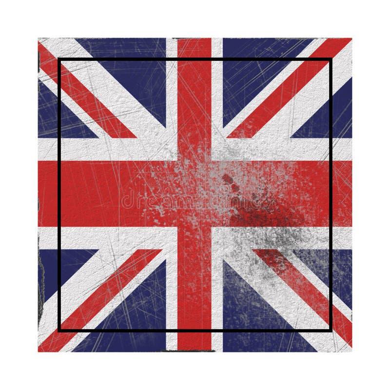 Old United Kingdom flag royalty free illustration