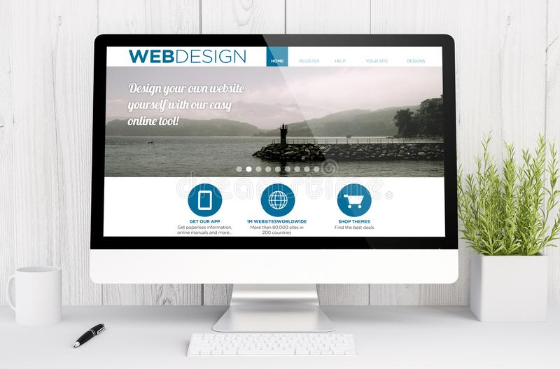 download white workspace with web design template stock photo image of freelance rendering