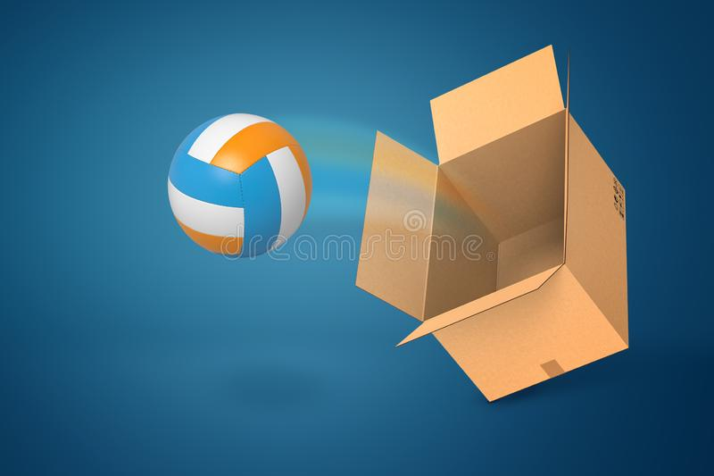 Background Abstract Sport Volleyball Blue Yellow Ball: Ball Box Stock Illustrations