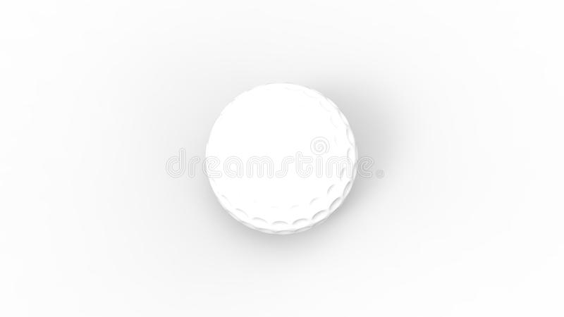 3d rendering of a white golf ball isolated in white studio background.  vector illustration