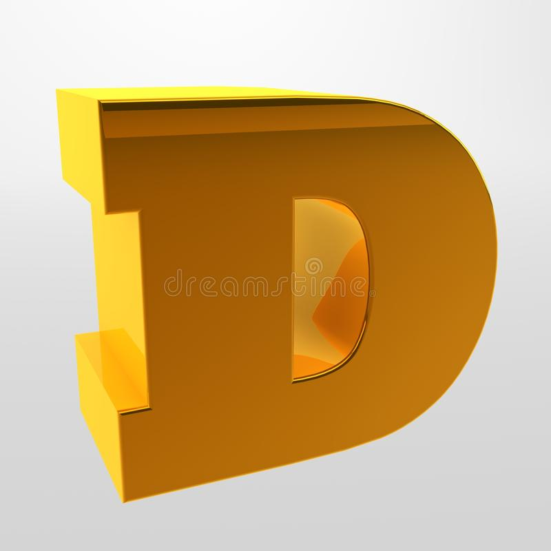 3d rendering. White letters on a light background. Capital letter. Letters of the alphabet. 3d rendering. White letters on a light background. Capital letter stock photography