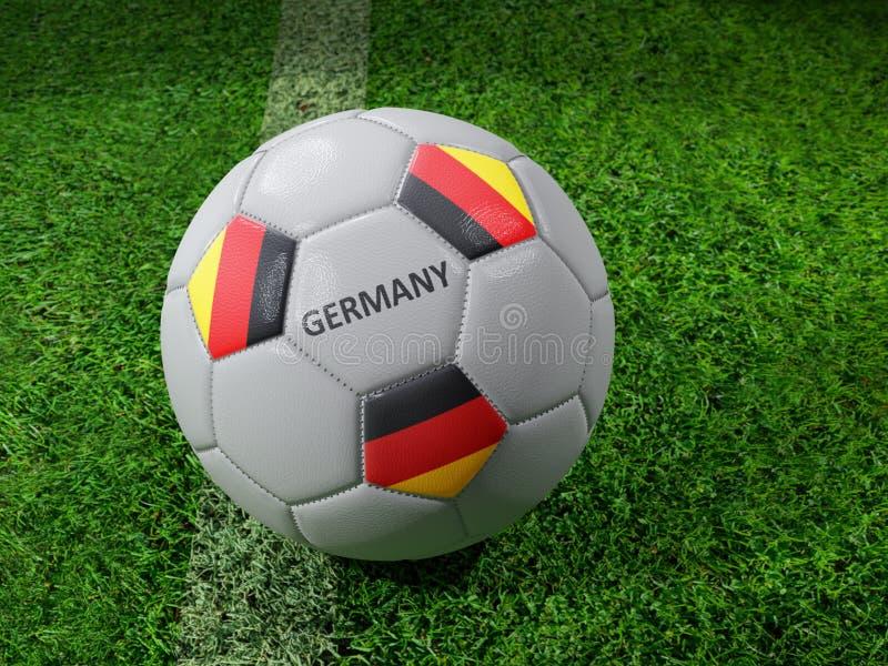 Germany soccer ball royalty free illustration