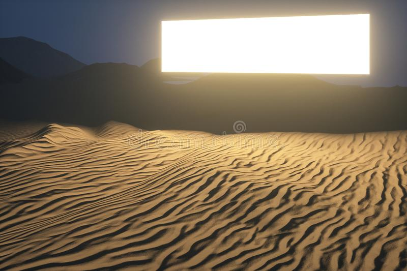 3d rendering, the wide desert, with stripes shapes. Computer digital image sand dune sandy landscape dry background pattern summer desserts empty natural vector illustration