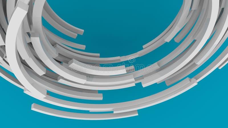 3D-rendering, witte abstracte ronde vormen achtergrond Kleurrijke achtergrond vector illustratie