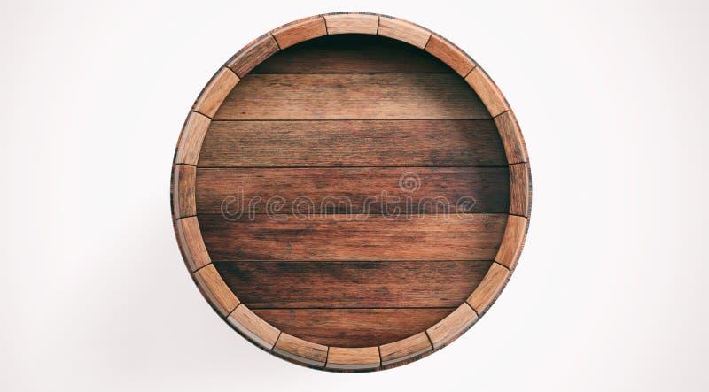 3d rendering wooden barrel on white background. 3d rendering old wooden barrel on white background royalty free illustration