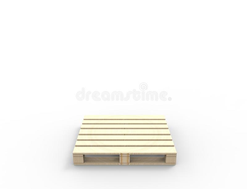 3D rendering of wooden pallets isolated in white background. vector illustration